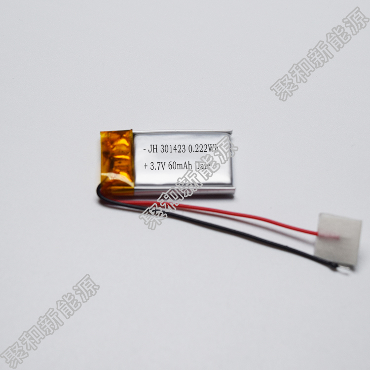 Best selling 301423 lithium polymer battery 60mah Bluetooth speaker Electronics 3.7V factory direct sales
