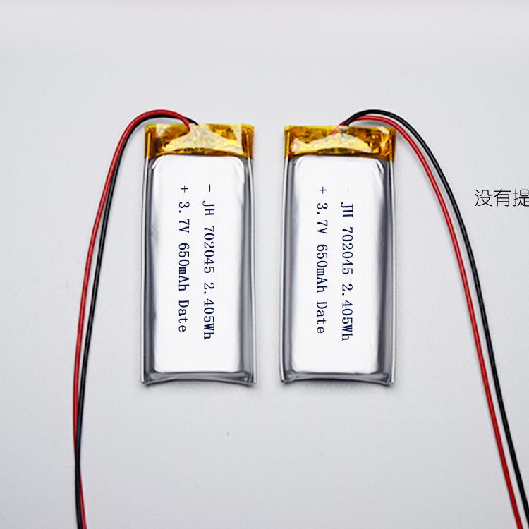 Hot 702045 lithium polymer battery 650mah 3.7V factory direct sales