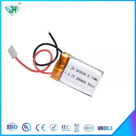JH502030 lithium polymer battery, suitable for drones, RC flying toys, 200mah 10c factory direct sales