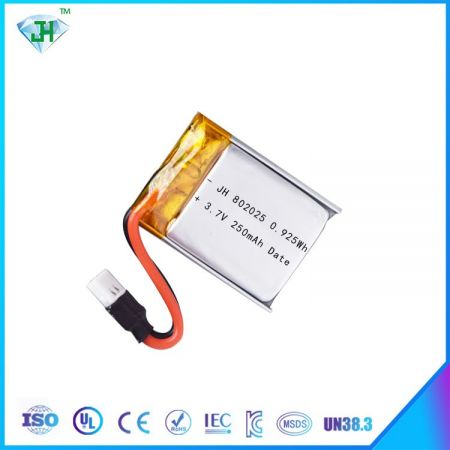 Lipo 802025 3.7V 220mAh 20C lithium ion polymer battery with connector for RC quadcopter toys