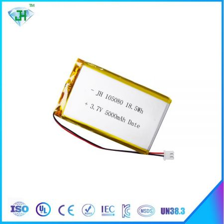 Lithium Battery 3.7V 105080 5000mah Rechargeable Battery for Electric Products