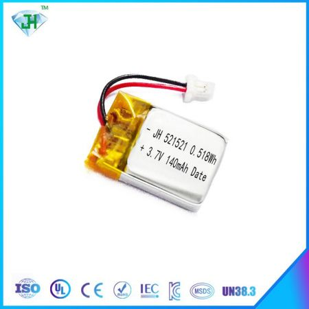 521521 3.7V 140mAh For Digital Product Lithium-ion Polymer Battery