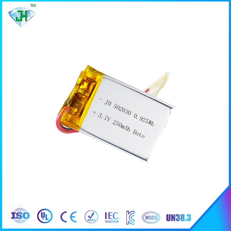 502030 3.7v 250mah lipo rechargeable Lithium Ion Polymer battery
