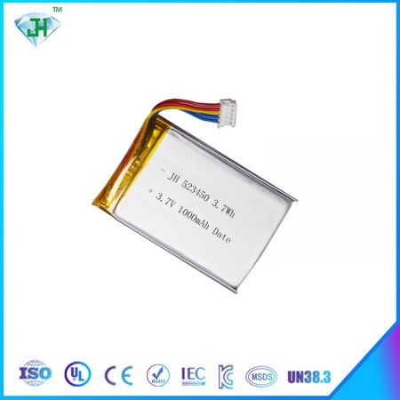 Hot 523450 1000mah 3.7V lithium polymer battery electronic battery factory direct sales