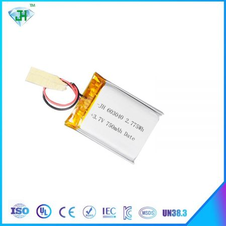 Hot 603040 lithium polymer battery 750mah electronic product battery accessories 3.7V factory direct sales
