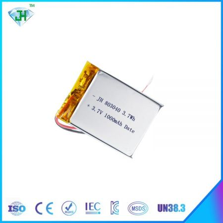 Polymer Lithium-ion Battery 3.7V 803040 1000mah Rechargeable Battery